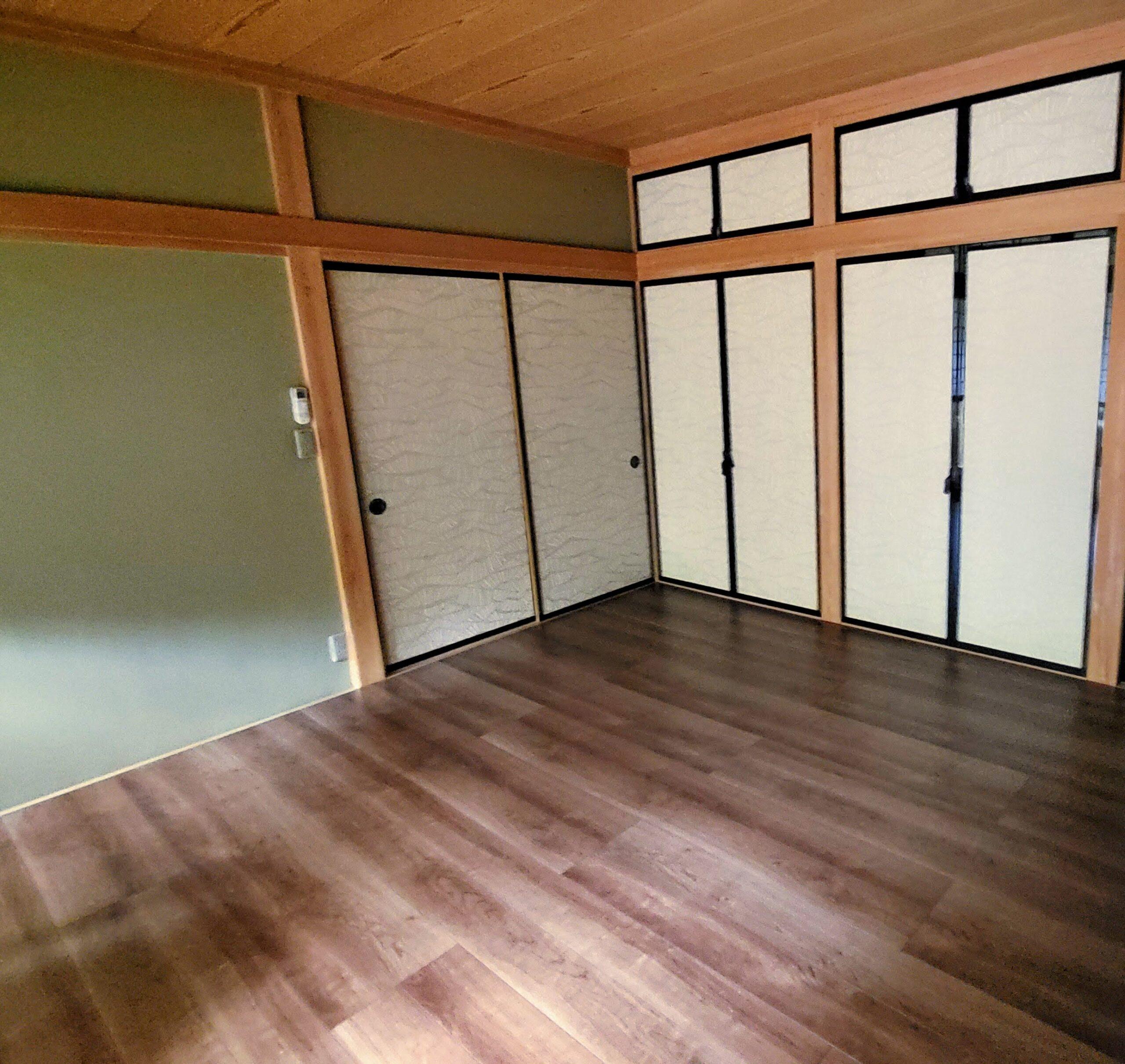 フローリング 板の間和室